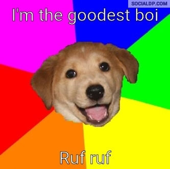 Im the goodest boi ruf ruf